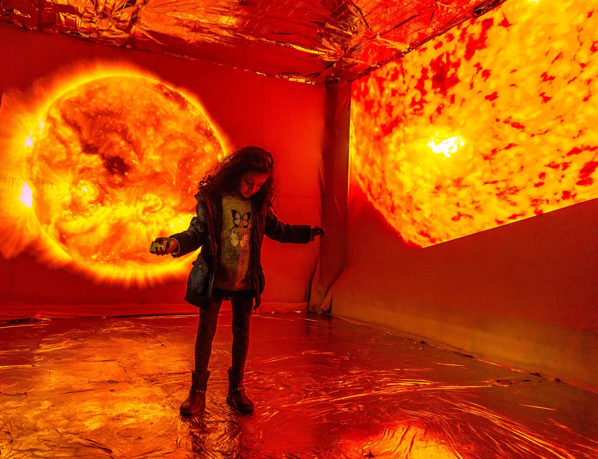 Sun installation Experiences Art Fair